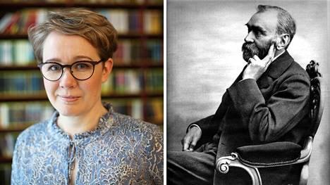 Kuollessaan vuonna 1896 ruotsalainen kemisti ja insinööri Alfred Nobel (oik.) oli yksi maailman rikkaimmista ihmisistä. Klassista kirjallisuutta rakastanut poikamies testamenttasi omaisuutensa Nobel-palkintoja jakavan säätiön perustamiseksi. Kirjallisuudentutkija Sanna Nyqvistin uutuuskirjassa tutkitaan Nobelin perinnön kulissien takaista elämää.