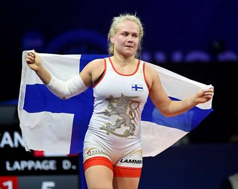 Petra Olli voitti maailmanmestaruuden vuonna 2018.