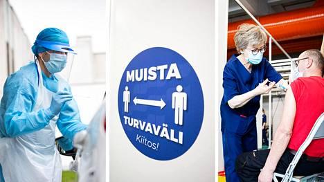Koronarokotukset etenevät Suomessa. Ensimmäisen rokoteannoksen oli keskiviikkoaamuun mennessä saanut 47,8 prosenttia suomalaisista.