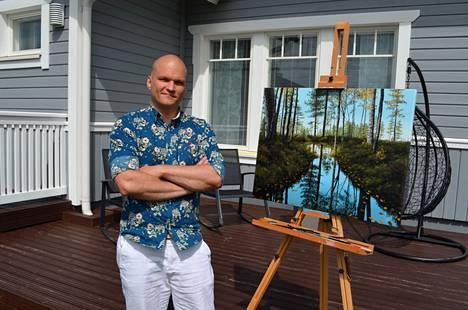 Harjuniityssä asuva Taro Malinen työskentelee rakennuttajapäällikkönä ja maalaa tauluja iltaisin, kun lapset ovat menneet nukkumaan. – Arkipäivän työt eivät enää kummittele illalla kun ottaa pensselin käteen ja uppoutuu maalaamiseen.