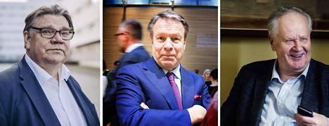 Timo Soini, Ilkka Kanerva ja Seppo Kääriäinen ampuivat alas ajatuksen, jonka mukaan Katri Kulmuni olisi yhä kuulunut hallituksen johtoviisikkoon vaikkapa vain ulkojäsenenä.