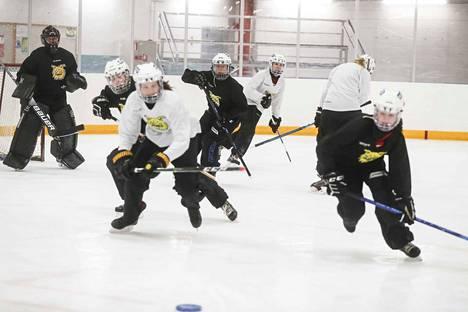 Ilveksen B-juniorien harjoitusryhmän treeneissä oli vauhtia Tesoman jäähallissa.