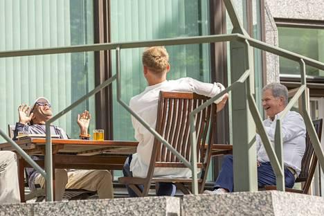 Spike Lee, Jasper Pääkkönen ja Sauli Niinistö keskustelivat Mäntyniemessä.