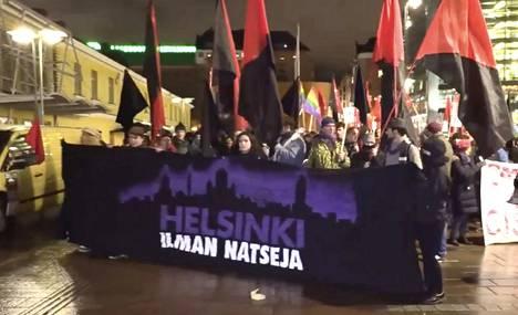 Helsinki ilman natseja -kulkue.