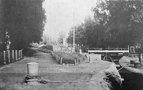 Tältä Valkeakosken vanha kanava ja sen ympäristö näytti vuonna 1937.