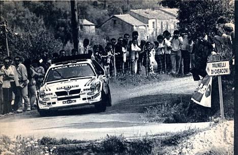 Henri Toivonen ajoi MM-voiton Lanciallaan.