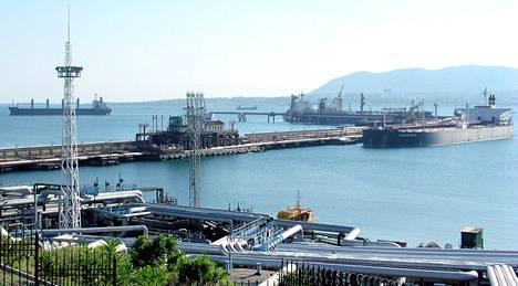 Vuoto tapahtui viikonloppuna lähellä Novorossijskin kaupunkia, kun satamassa käsiteltiin Kreikan lipun alla kulkevan Minerva Symphonyn öljylastia. Arkistokuva.