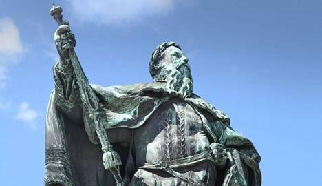 Kustaa Vaasan patsas Tukholmassa.