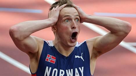 Karsten Warholm voitti olympiakultaa ällistyttävällä tavalla.