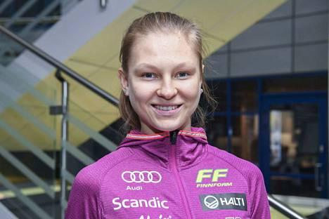 Eveliina Piippo palasi kisaladuille.
