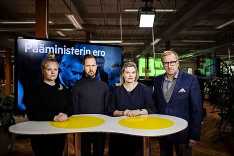 Aamulehden Saara Tunturi, Tatu Airo, Riina Nevalainen ja Vesa Laitinen käyvät pääministerin eroa ja sen seurauksia läpi.