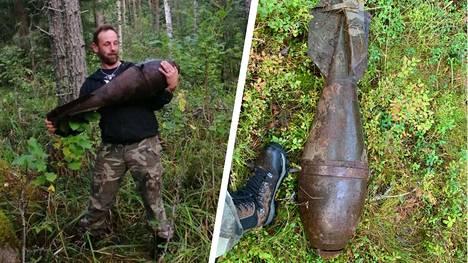 Jussi Leskinen löysi kuvan pommin sieniretkellä.