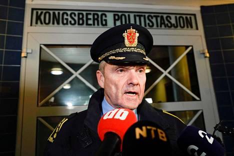 Kongsbergin poliisipäällikkö Øyvind Aas.