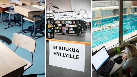 Tampereen kaupungin palveluissa astuu maanantaina 8. maaliskuuta voimaan uusia koronarajoituksia.
