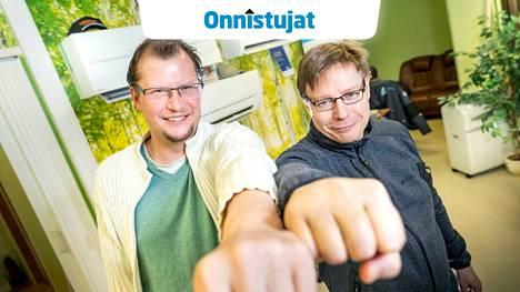 Jarno Huttunen ja Marko Aalto kantavat edelleen mielellään kylmäkarhun manttelia, vaikka laajennetun toimitilan räystäälle nouseekin yhteisyrityksen virallinen nimi eli Porin Kylmäkeskus.