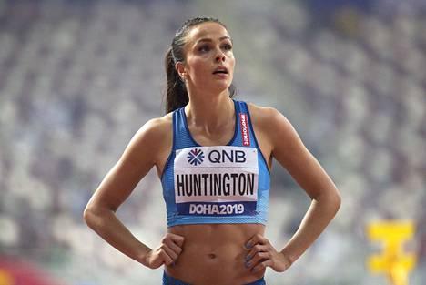 Maria Huntington joutui pettymään raskaasti Dohassa.