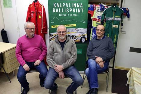 Hannu Kivistö (vas.) ja Veijo Vainio (oik.) johtivat Turengin autourheilukerhoa 1970-luvulla. Ilkka Heino on toiminut puheenjohtajana viime syksystä lähtien.