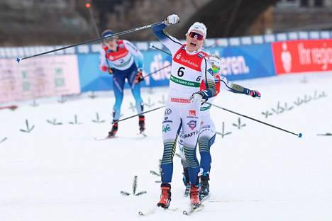 Ruotsin Linn Svahn on yksi MM-hiihtojen mitalisuosikeista.