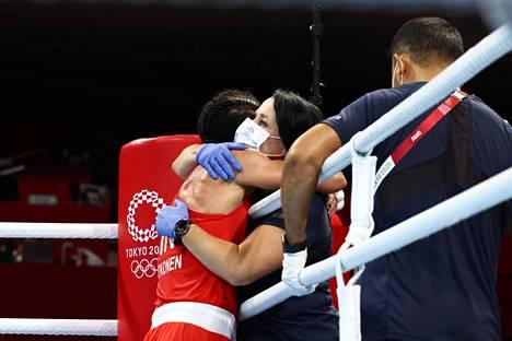 Potkosen ja Maarit Teurosen pitkä yhteistyö voi huipentua toiseen olympiamitaliin.