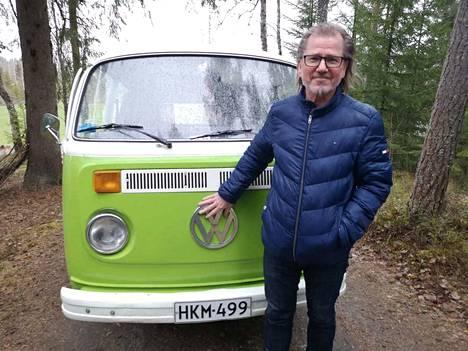 Rami Lehtinen on enemmän kuin tyytyväinen, että sai rakkaan ajopelinsä ehjänä takaisin. Kleinbus-autoa jäljitettiin pitkin Varsinais-Suomea ja vanhaa Satakuntaa.
