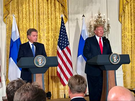 Presidentti Sauli Niinistö vieraili Yhdysvaltain presidentin Donald Trumpin luona Valkoisessa talossa myös elokuussa 2017.