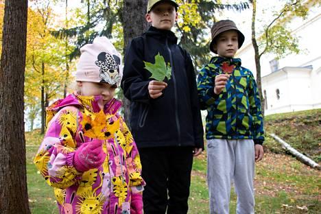Lempääläläiset Ellen, Aleksi ja Santtu Ahoranta olivat isänsä Rami Ahorannan kanssa Tampereella sunnuntairetkellä. He olivat käyneet Tallipihalla ja Tiitiäisen satupuistossa.