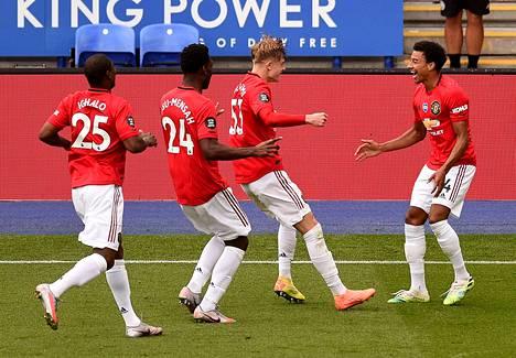 Manchester United päihitti Leicesterin sunnuntai-iltana.