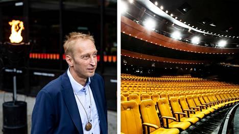 """""""Puolitoista viime vuotta on mennyt järkyttävän nopeasti, ja samaan aikaan se on ollut järkyttävän pitkä jakso. Teatterissa korona-aika on vaatinut jatkuvaa reagoimista. Se herättää ristiriitaisia tuntemuksia"""", sanoo Tampereen Työväen Teatterin johtaja Otso Kautto."""