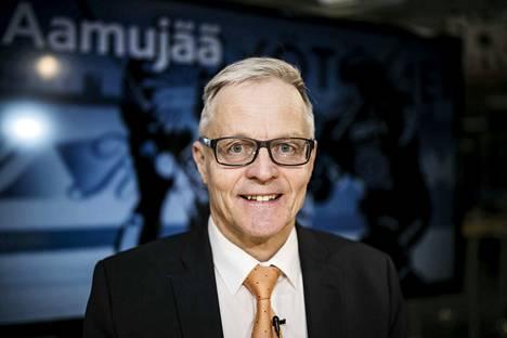 Rauno Korpi vieraili Aamulehden studiossa maaliskuussa 2017, kun Tampereella pelattiin Tapparan ja Ilveksen pudotuspelejä.