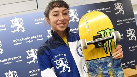 Suomea olympialaisissa edustava Lizzie Armanto meni naimisiin belgialaisen rullalautailijan Axel Cruysberghsin kanssa viime vuoden lokakuussa.