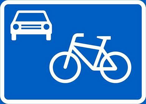 Tällainen liikennemerkki löytyy ensi vuonna katukuvasta, mutta mitä merkillä mahdetaan tarkoittaa? Kuva: Väylävirasto