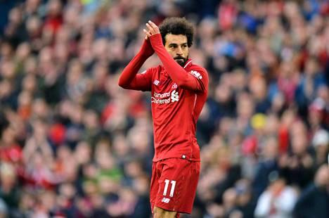 Mohamed Salah katkaisi kahdeksan ottelua pitkän kuivan kautensa oikealla hetkellä. Kuva otettu 31.3. Liverpoolin ja Tottenhamin välisestä ottelusta.