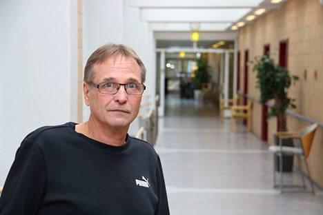 Kankaanpään kuntoutuskeskuksen käytävät ovat tulleet tutuiksi yöhoitaja Markku Papuselle hänen yli 20 vuotta kestäneen työuransa aikana.