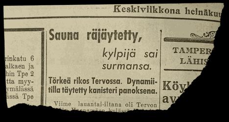 Aamulehti uutisoi tapauksesta pienen yhden palstan uutisen verran.