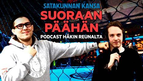 Porilainen vapaaottelija Jesse Urholin ja Satakunnan Kansan urheilutoimittaja Eetu Lehtinen keskustelevat tulevasta UFC 258 -otteluillasta.