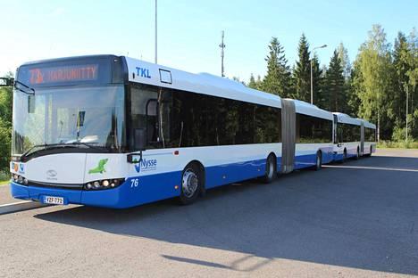 Myllyhaan koululaisia Harjuniityn koululle väistötiloihin kuljettanut linja 73K ei kulje tällä hetkellä.
