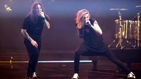 Blind Channel -yhtye oli toinen esiintyjä Euroviisujen semifinaaleissa Rotterdamissa.
