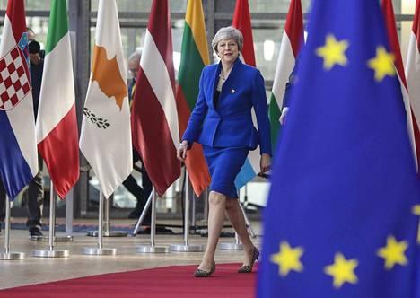 Britannian pääministeri Theresa May saapui Brysselissä pidettävään EU-huippukokoukseen keskiviikkona.