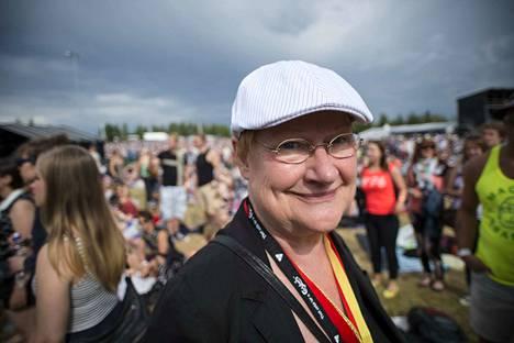 Presidentti Tarja Halonen Pori Jazzissa vuonna 2014. Hän oli silloin sitä mieltä, että monipuolinen musiikkitarjonta on hyvä asia.