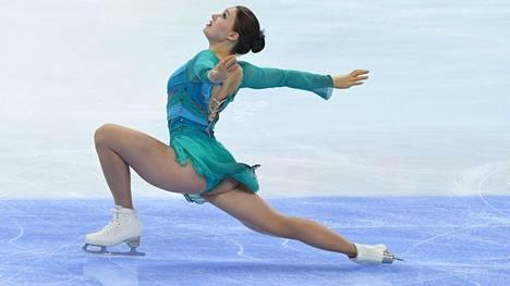 Jenni Saarinen jäi Kiinassa lopputuloksella 154,45 kolmannesta sijasta 1,2 pistettä