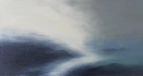 Marika Viskari: Lost Lake of Souls/Kadonnut sielujen järvi, öljy kankaalle (2020)