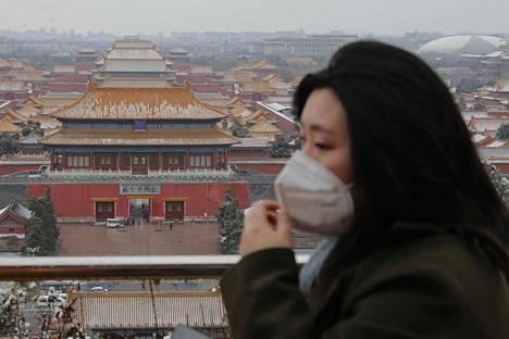 Monet käyttävät Kiinassa hengityssuojaimia koronaviruksen takia.
