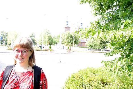 Anna Mäkipään vanhemmat asuvat edelleen Sastamalassa ja hän kävi kaupungissa lomallaan.