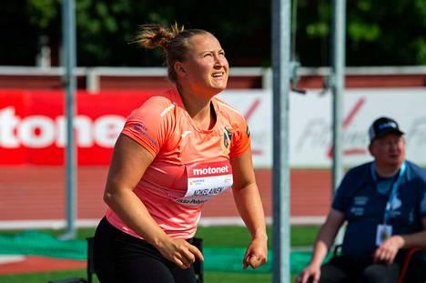 Kauden kotimaista kärkitulosta nimissään pitävä Heidi Nokelainen ei puolusta mestaruuttaan finaalissa.