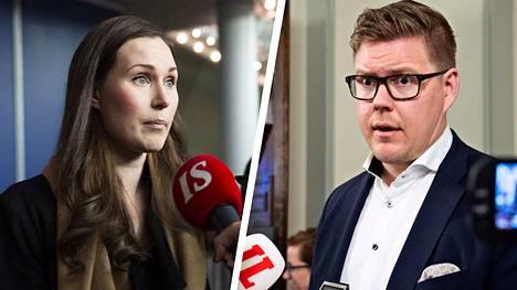 Sanna Marin ja Antti Lindtman ilmoittivat tiistaina olevansa käytettävissä, kun uusi pääministeri valitaan.