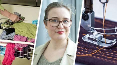 Rinna Saramäki on opiskellut vaatesuunnittelua ja pukutaidetta. Hän on kirjoittanut aiemmin tietokirjoja esimerkiksi käsitöistä ja pikamuodin ongelmista.