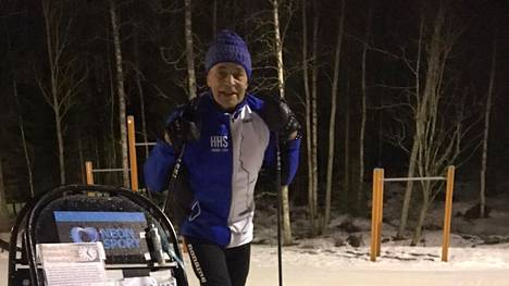 Sää suosi Pentti Hiirijoen hiihtourakkaa Vinkissä.