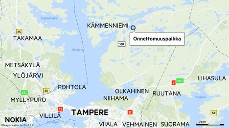 Onnettomuus tapahtui Viitapohjantiellä. Tarkka onnettomuuspaikka on Vattulantien risteyksen lähistöllä.
