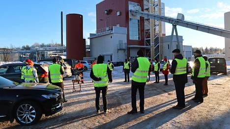Elinkeinoministeri Mika Lintilä (kesk.) vieraili Pohjois-Satakunnassa.