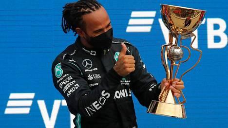 Lewis Hamilton ajoi sadannen voittonsa.